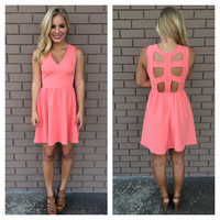 Coral Catherine Dress