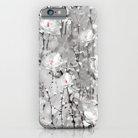 White Snow Flowers iPhone & iPod Case by Smyrna