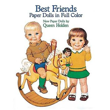 Best Friends Paper Dolls in Full Color