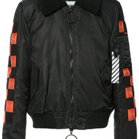 Off-White Checker Bomber Jacket - Farfetch