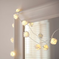 Battery Powered 2 2M 20LED Warm White Rose flowers String Lights