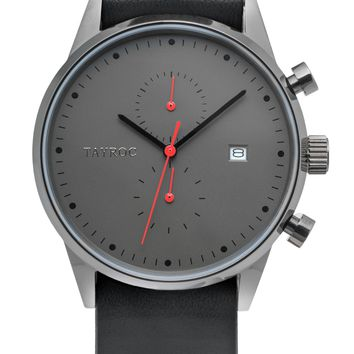 TXM086 - Black Leather NATO