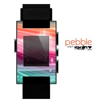The Vibrant Multicolored Abstract Swirls Skin for the Pebble SmartWatch.png for the Pebble Watch