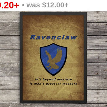 Ravenclaw Poster | Minimalist Poster | Harry Potter Poster |  Kids room decor | Harry Potter art