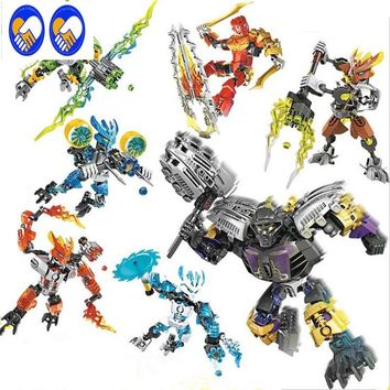 A Toy A Dream BIONICLE series XSZ 706 jungle Rock Water Earth Ice Fire protecto action Building Block P073