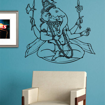 Ganesha Elephant Version 2 Design Decal Sticker Wall Vinyl Decor Art