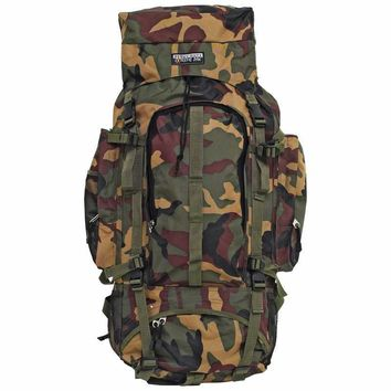 Pattern Camouflage Water-Resistant, Heavy-Duty Mountaineer's Backpack