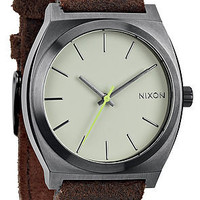 Nixon The Time Teller Watch in Gunmetal Brown