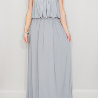 Light gray dress Party dress Gray Bridesmaid Dress