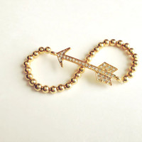 Rhinestone Pave Arrow Hipster Stackable Arm Candy by emmaflhair
