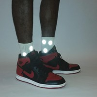 reflective dot sock
