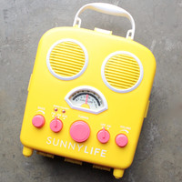 sunnylife - beach sounds portable water resistant speaker & radio