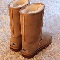 UGG classic wool high boots F Shoes Brown
