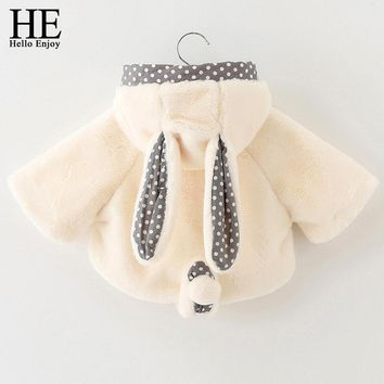 Baby jacket coat autumn winter baby girl jackets fashion long sleeve plush thick hooded jacket girl clothing