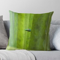 'Peekaboo! A gecko in the agave' Throw Pillow by vfphoto