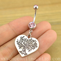 wishing tree Belly Button jewelry,love Navel Jewlery,wishing tree belly ring,friendship bellyring,oceantime