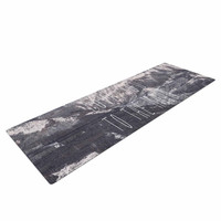 """Suzanne Carter """"Love You to The Moon"""" Black White Yoga Mat"""