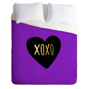 Leah Flores I Love You Like XO Duvet Cover
