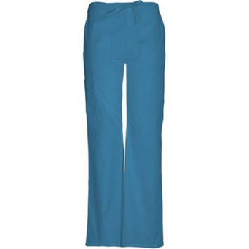 ScrubStar Women's Drawstring Cargo Scrub Pants, Small, Caribbean Blue, 77942
