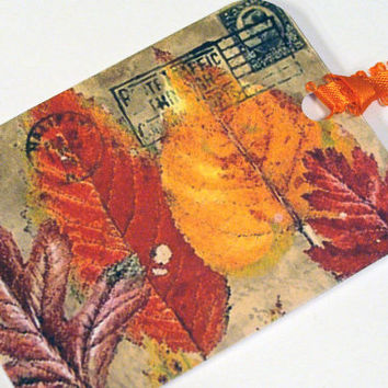 Fall Gift Tags Autumn Leaves Set of 8