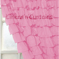 PINK Ruffle Curtain, Egyptian Cotton 1000 Thread Count