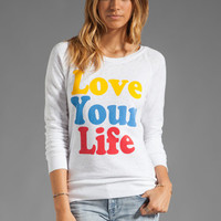 Rebel Yell Love Your Life Sweatshirt in White from REVOLVEclothing.com