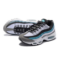 NIKE Air max Man sports running shoes sneakers White-blue edge H-CSXY