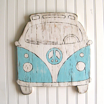 VW Bus Sign Beach Bus Summer Peace Microbus by SlippinSouthern