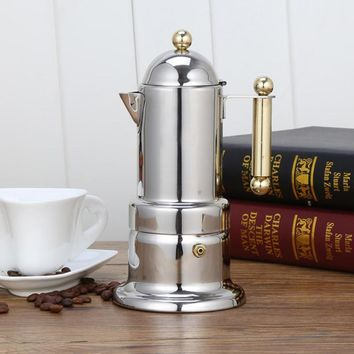 Stainless Steel Coffee Pot Coffee Maker Teapot Mocha Stovetop Filter  Percolator Kitchen Tools
