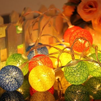 Creative Stylish Colorful Bright Cotton Box Christmas Decoration Lights [18778554388]