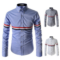Men Decoration Casual Long Sleeve Shirt [6544497155]