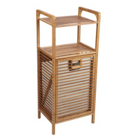 Household Essentials Tilt-out Bamboo Laundry Hamper