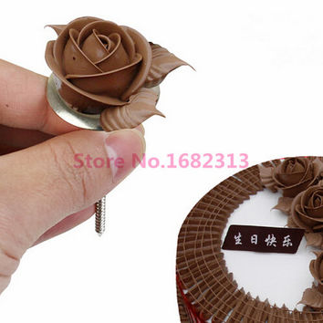 1PC New Cupcake Cake Stand Icing Cream Flower Decorating Nail Set Tool S M L for choose free shipping
