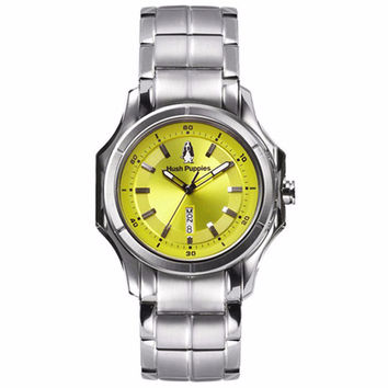 HUSH PUPPIES MEN'S NEON GREEN DIAL STAILESS STEEL WATCH WATCH HP.3629M.1511