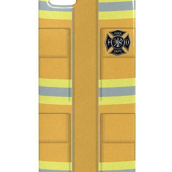 Firefighter Yellow AOP iphone 5 & 5S Plastic Case All Over Print