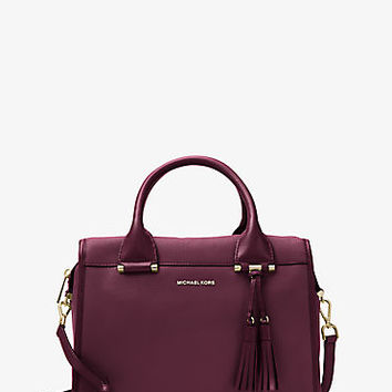 Geneva Large Leather Satchel | Michael Kors
