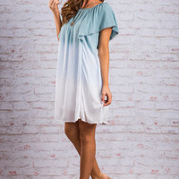 Thinking Of Love Dress, Sea foam