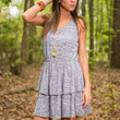 Summer Crochet Dress, Gray