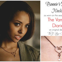 Bonnie's Heart Necklace- As seen on The Vampire Diaries