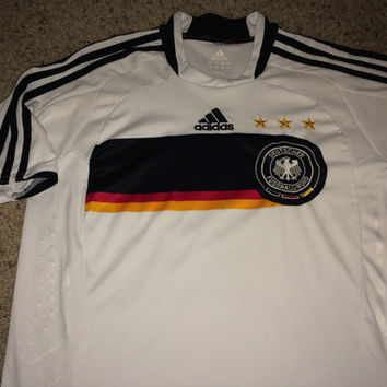 9c142a3a9 Sale!! Vintage Adidas GERMANY Soccer Jersey Deutschland Football