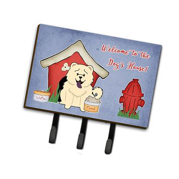 Dog House Collection Chow Chow White Leash or Key Holder