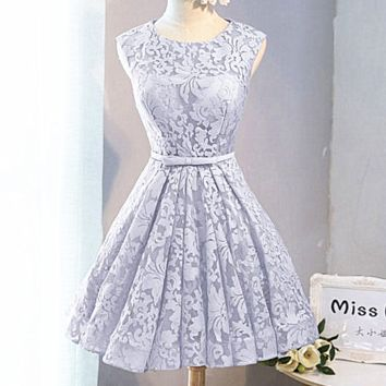 Fashion Sexy small dress grey bridesmaid dresses short