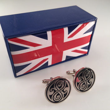 Doctor Who Inspired Seal of Rassilon Cuff Links