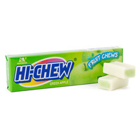 Hi-Chew Fruit Chews 10-Piece Candy Packs - Green Apple: 10-Piece Box