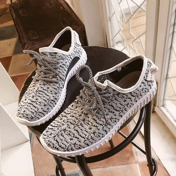 Running trainers women's walking shock absorbing sports fashion shoes(Black and White) !free shipping!