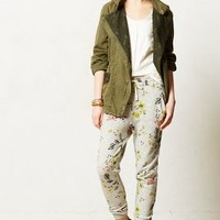 Floral Terry Joggers by Saturday/Sunday Yellow L Pants