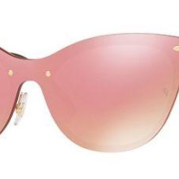 RAY BAN 3580N 3580/N 43 043/E4 BLAZE CATS GOLD SUNGLASSES PINK ROSA ORO SOLE