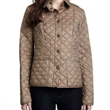 Quilted Snap-Front Cropped