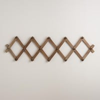 Wood Accordion Wall Storage