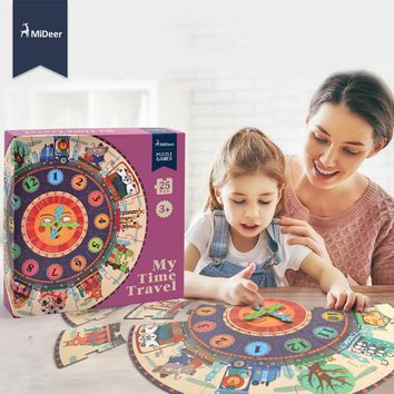 Mideer My Time Travel Puzzle Baby Early Learning Educational Toys for Children Kids Birthday Gift